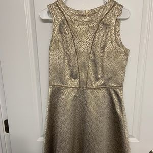 Women's Vince Camuto A-line dress gold Size 8